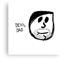 Devil Dad Canvas Print