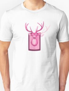 The Pink Deer Head Graphic Unisex T-Shirt