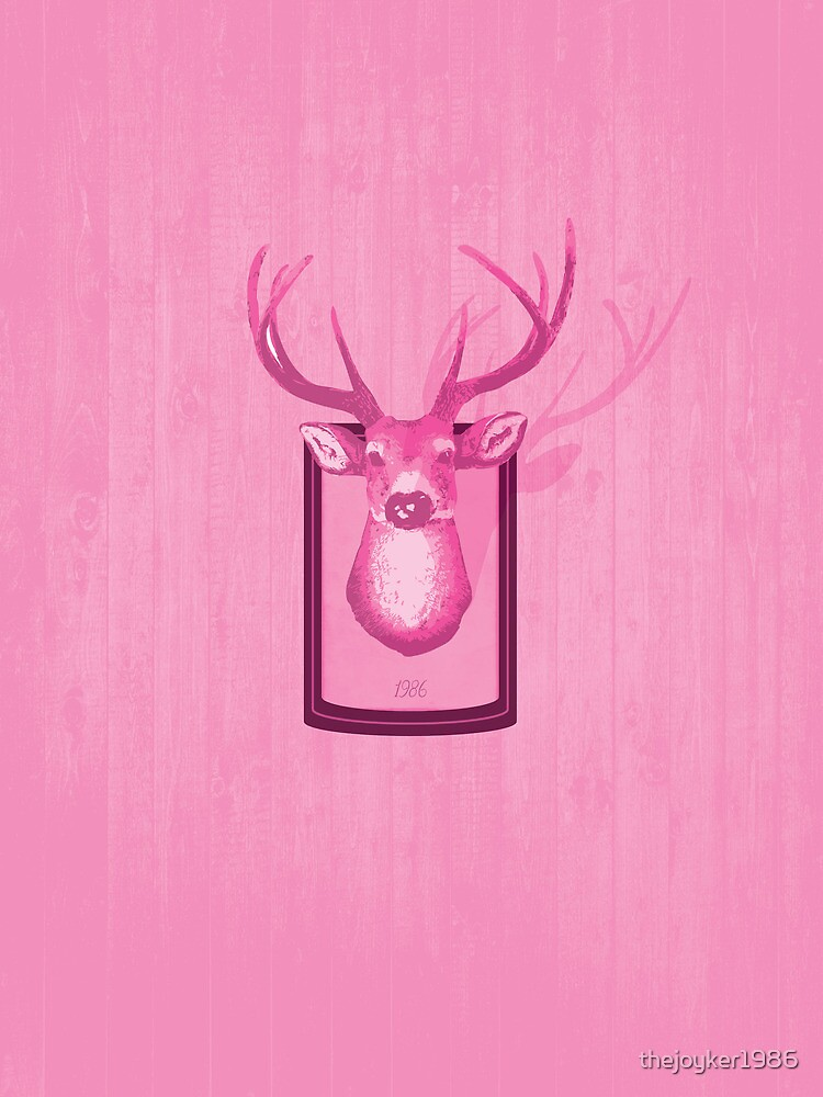 The Pink Deer Head Graphic by thejoyker1986