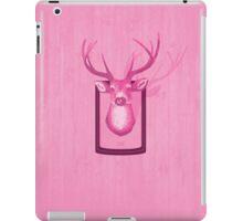 The Pink Deer Head Graphic iPad Case/Skin