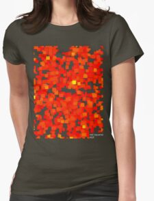 red squares Womens Fitted T-Shirt