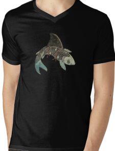 Koi Shark Fin Mens V-Neck T-Shirt