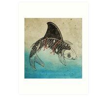 Koi Shark Fin Art Print