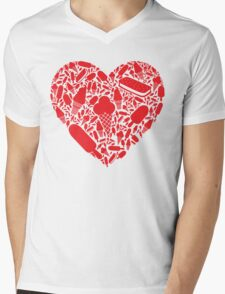 Ice Cream Love Mens V-Neck T-Shirt