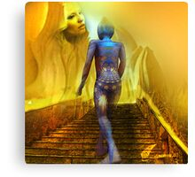The golden stairs Canvas Print