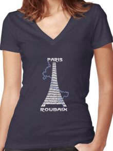 Paris-Roubaix Women's Fitted V-Neck T-Shirt