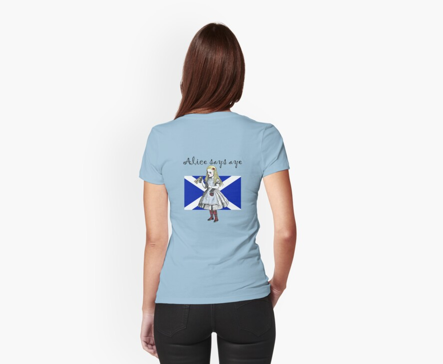 Alice Says Aye Scottish Independence T-Shirt by simpsonvisuals