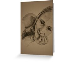 Self portrait Greeting Card