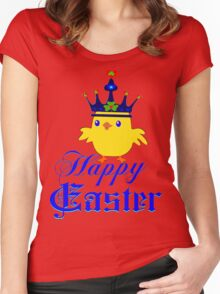 ㋡♥♫Happy Easter Blue Eyed Irish King Chicken Clothing & Stickers♪♥㋡ Women's Fitted Scoop T-Shirt