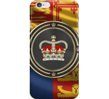 St Edward's Crown - British Royal Crown over Royal Standard  iPhone Case/Skin