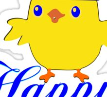 ㋡♥♫Happy Easter Blue Eyed Irish King Chicken Clothing & Stickers♪♥㋡ Sticker