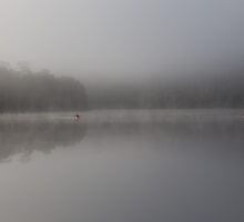 Canoes In The Mist by Steve Bass