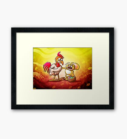 Easter Bunny in Trouble Framed Print