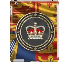 St Edward's Crown - British Royal Crown over Royal Standard  iPad Case/Skin