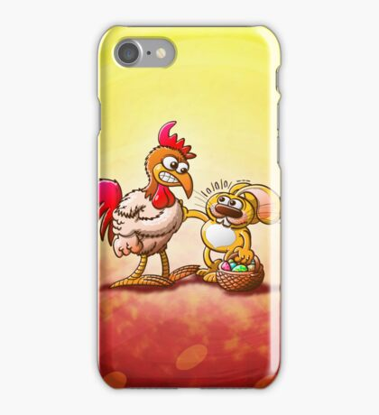 Easter Bunny in Trouble iPhone Case/Skin