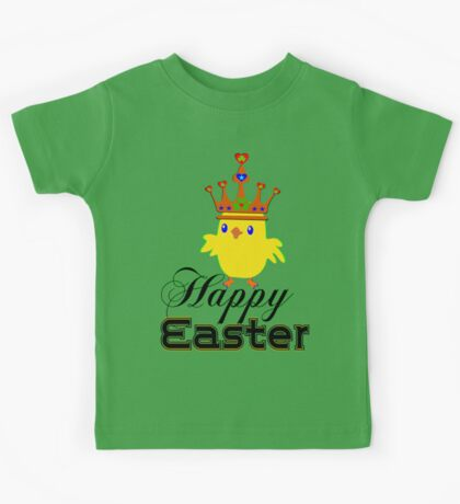 ㋡♥♫Happy Easter Blue Eyed Irish King Chicken Clothing & Stickers♪♥㋡ Kids Tee