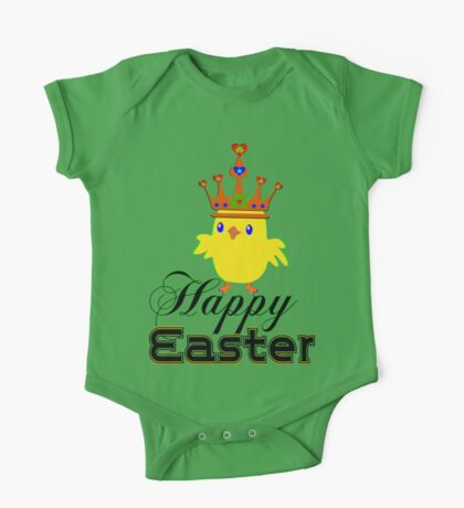㋡♥♫Happy Easter Blue Eyed Irish King Chicken Clothing & Stickers♪♥㋡ One Piece - Short Sleeve