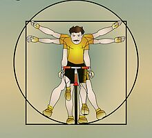 Vitruvian Cyclist by SlackersPeloton