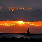 Horse Island Lighthouse Sunset by George Crawford