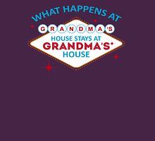 What Happens At Grandma's Stays At Grandma's Womens Fitted T-Shirt