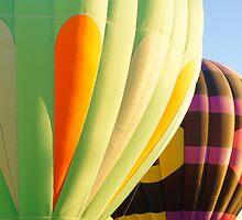 Hot Air Ballons In Lake Havaus Az by Tina Hailey