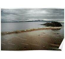 Muted Seamill Beach Poster