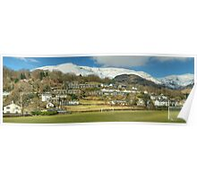Coniston Village And Fells Poster