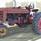 Old Red Tractor by RGMcMahon
