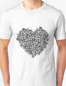 Hearts of Flowers Unisex T-Shirt