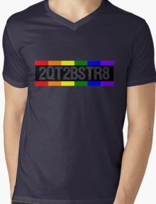 2QT2BSTR8 Mens V-Neck T-Shirt