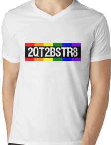 2QT2BSTR8 Mens V-Neck T-Shirt
