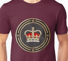 St Edward's Crown - British Royal Crown over Red Velvet Unisex T-Shirt