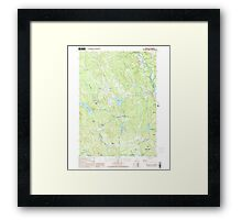 USGS TOPO Map New Hampshire NH Webster 329855 2000 24000 Framed Print