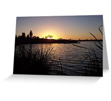 Pond at Sunset Greeting Card