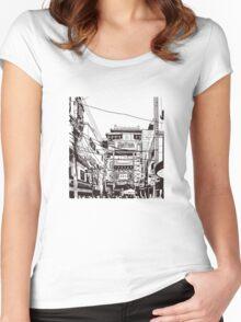 Yokohama - China town Women's Fitted Scoop T-Shirt