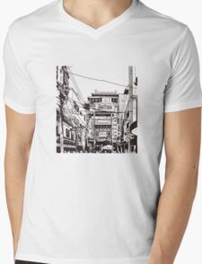 Yokohama - China town Mens V-Neck T-Shirt