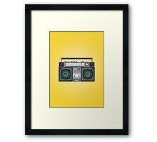Boombox Framed Print