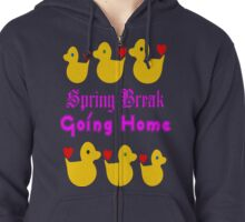 ㋡♥♫Spring Break-Going Home Ducks Clothing & Stickers♪♥㋡ Zipped Hoodie