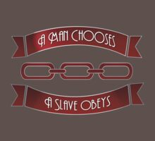 Bioshock Man Chooses Slave Obeys by OCD Gamer Retro Gaming Art & Clothing