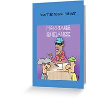 Marriage Guidance funny cartoon card. Greeting Card