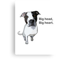 Big head, big heart  Canvas Print
