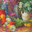 Spring flowers by Julia Lesnichy
