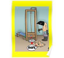 Funny ROFL cartoon greetings card. Poster
