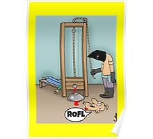 Funny ROFL cartoon greetings card. Poster