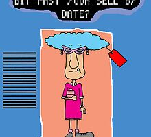 Past sell by date cartoon greetings card. by TheNuttaz
