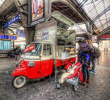 Hotdog Stand at Hauptbahnhof by Yhun Suarez