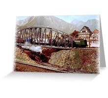 Trains Over and Under Greeting Card