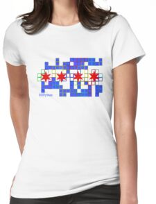 Tetris Chicago Womens Fitted T-Shirt