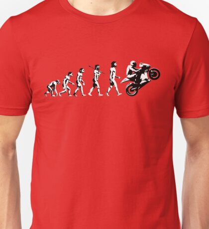 MOTORCYCLE EVOLUTION BIKE WHEELIE Unisex T-Shirt