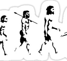 MOTORCYCLE EVOLUTION BIKE WHEELIE Sticker